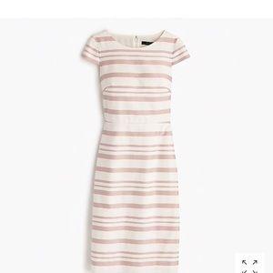 Jcrew Double-stripe cap-sleeve dress